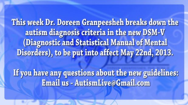 Autism Diagnosis Criteria in the DSM-V